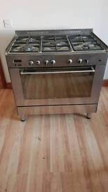 Dual fuel cooker gas hob electric oven