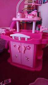 Baby doll nursery centre with accessories