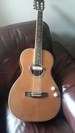 ACOUSTIC PARLOUR GUITAR WITH PICK-UP