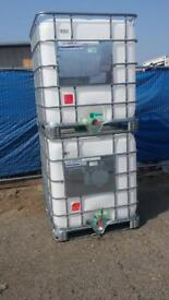1000 Litre Food grade Reconditioned IBC Storage containers