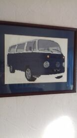 Vw Hand Sewn Picture
