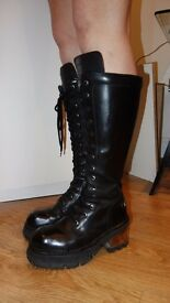 Women high New Rock boots, size 8 goth
