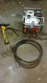 Hydraulic power pack breaker