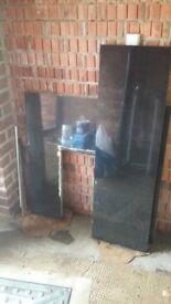Granite hearth and fire surround