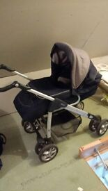 Silver cross pram, pushchair, travel system with 2 car seats