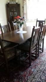 Old charm dining table oak