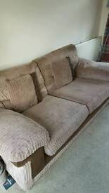 DFS LARGE 2 SEATER SOFA. ARM CHAiR AND TUB CHAIR