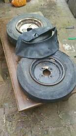 Trailer wheels and tyres x2 10inch
