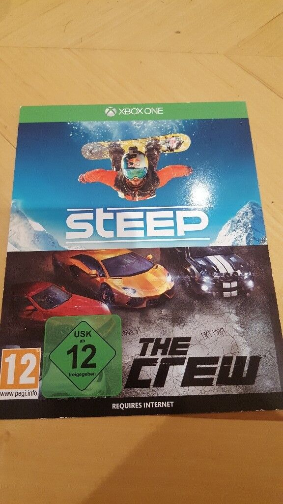 Steep & The Crew Xbox One Game Brand New Unscratched Download codes for two  Games | in Westminster, London | Gumtree