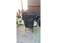 large garden fire pit and fire basket