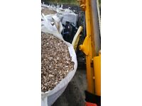 Big bags of wood chips