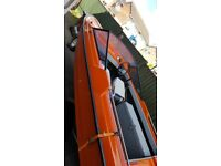 14 and half foot speed boat on trailer put in water of u go very good condition