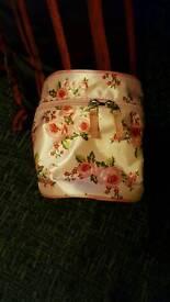 Pink make-up bag floral