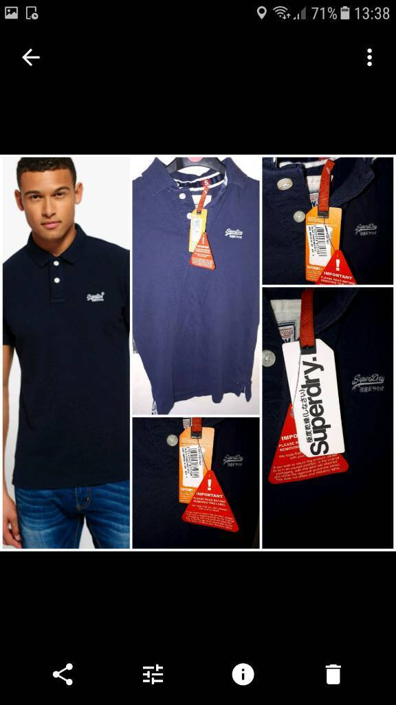 🔖Brand new with tags superdry t shirt mens Classic Polo Shirt small mens teenagers