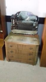 dressing table with mirror vintage