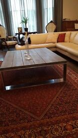 "Coffee table ""BALTUS"", prestigious spanish furniture brand name 140cm/110cm/40cm, collection only"