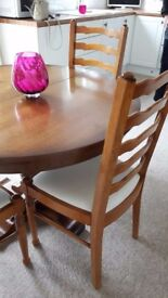 Oak Table and Chairs - just in time for Christmas