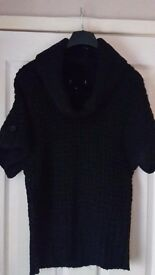 Womens Ladies Black Jumper size 12/14 M/L