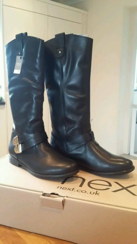 ***Brand New*** NEXT Ladies Girls Black Boots Size 7