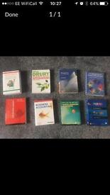 Various management and accounting textbooks