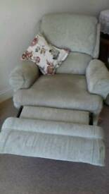 Lovely three piece suite with reclining armchairs