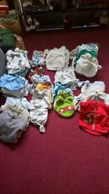 huge bundle newborn baby to 1 month too many to count or wear job lot bulk childrens kids clothing