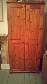 2xSolid Pine Wardrobes