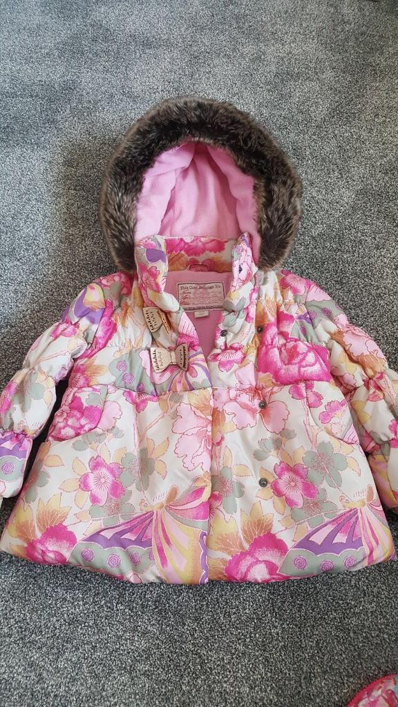 Floral Monsoon winter coat 18-24 months