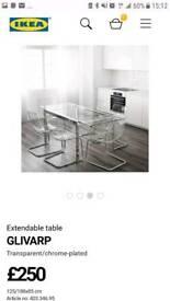 Ikea glass extending table