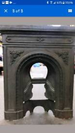 Beautiful Vintage Cast Iron Fireplace