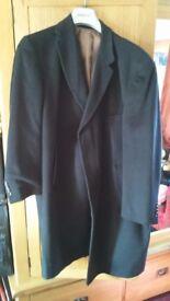 Mens wool black coat funeral / winter