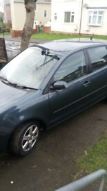 Grey Volkswagen polo 1.2. Excellent, reliable run around.
