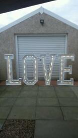 Giant 4ft Love Letters (hire only)