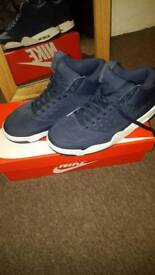 Nike Air Flight Trainers Navy Blue UK Size 7