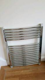 Chrome Pisa curved towel radiator