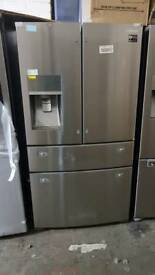 Samsung RF24FSEDBSR 4-Door Fridge Freezer, Stainless Steel