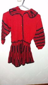 hand knitted girls frock - brand new
