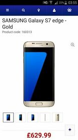 SAMSUNG GALAXY S7 EDGE GOLD 32GB brand new sealed box UNLOCKED