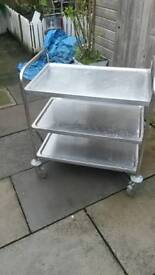 Good size 3tier on wheels catering trolly