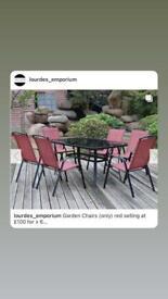 X6 garden chairs