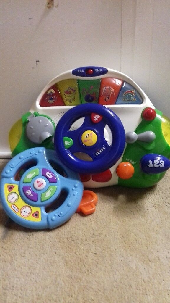 Childrens play wheel and car centre