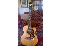Epiphone EJ - 200 electro acoustic in natural colour