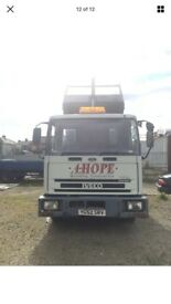 Ford Iveco tector tipper truck 7.5 ton low mileage work horse good runner off...