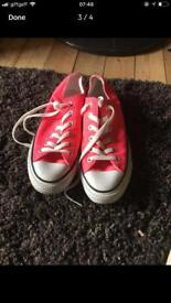 Bright pink converse trainers never worn - uk 6