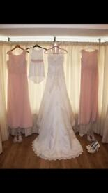 Beautiful Annais bridal Wedding Dress And x2 Bridesmaids dresses
