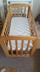 Mamas & Papas wooden swinging crib