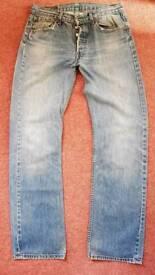 Levi 501's 32 Waist 34 Leg.