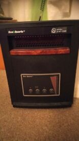 Eco Quartz Infrared Portable Heater: 1500w Used once, still have box etc. Perfect working condition.