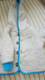 Ted Baker hooded jacket. Size 0-3 months