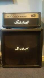 Marshall mg 100hfx and cab